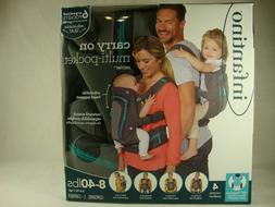 Grey & Turquoise Infantino Carry On Multi-Pocket Carrier Bab
