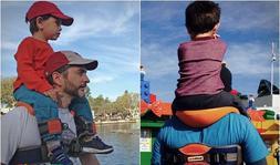 Hands-Free Shoulder Carrier Nylon Child Strap Rider for 2-5
