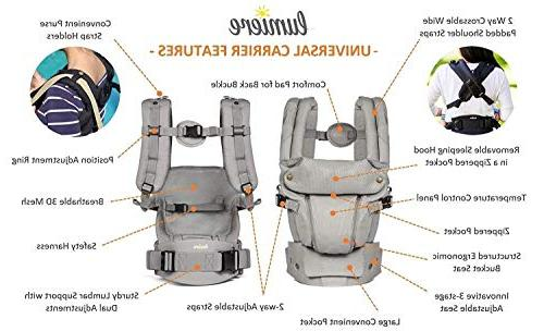 360 Ergonomic - Baby Sling 6 Easy Insert Needed, Fits All to Infant Toddler, Hiking Backpack Carrier