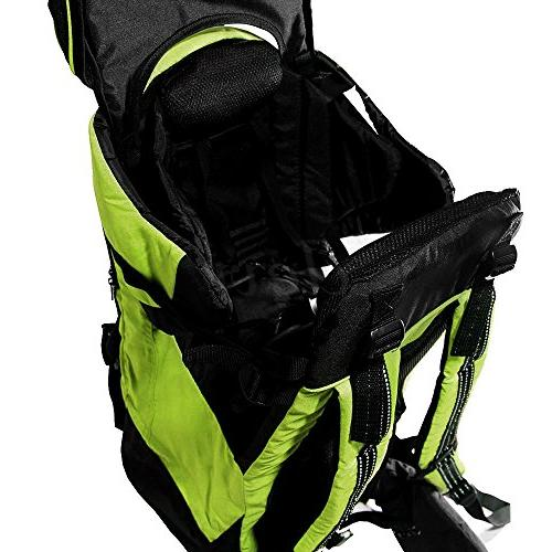 Clevr Backpack Cross Country Lightweight Carrier with Child Kid Green