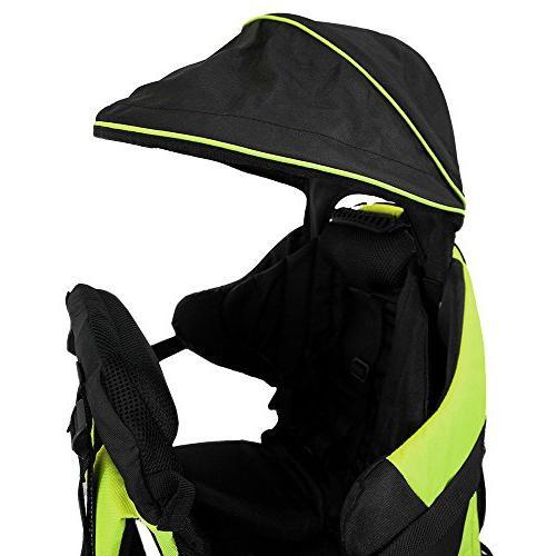 Backpack Cross Lightweight Carrier Stand Child Kid Green