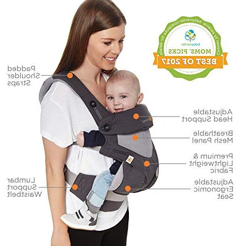 Ergobaby Carrier, 360 All Carry Carrier with Cool Mesh, Carbon