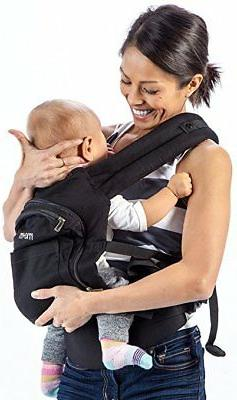 Mo+m 3-Position Cotton Baby Carrier with Ergonomic Sling, Me