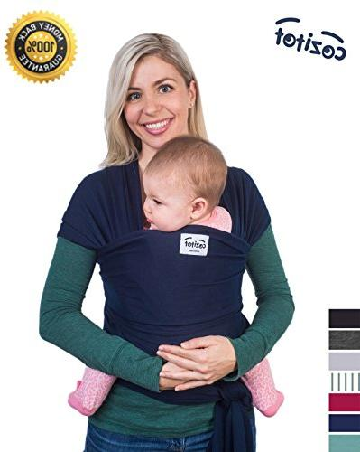 Navy Blue Baby Sling Wrap Carrier by Cozitot | Soft & Stretc