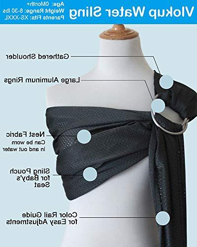 Vlokup Water Ring Sling Carrier for Newborn, and | for Dad