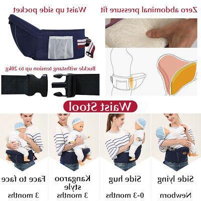 Baby Carrier Infant Toddler Waist Stool Backpack Hip Belt