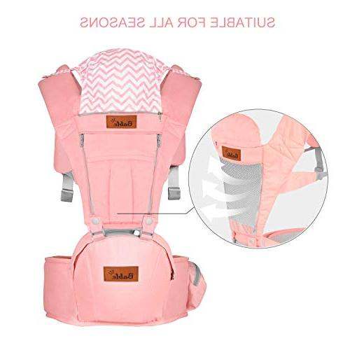 Bable Baby Hip 6-in-1 Baby Carrier Infants and Toddler, Padded All Seasons