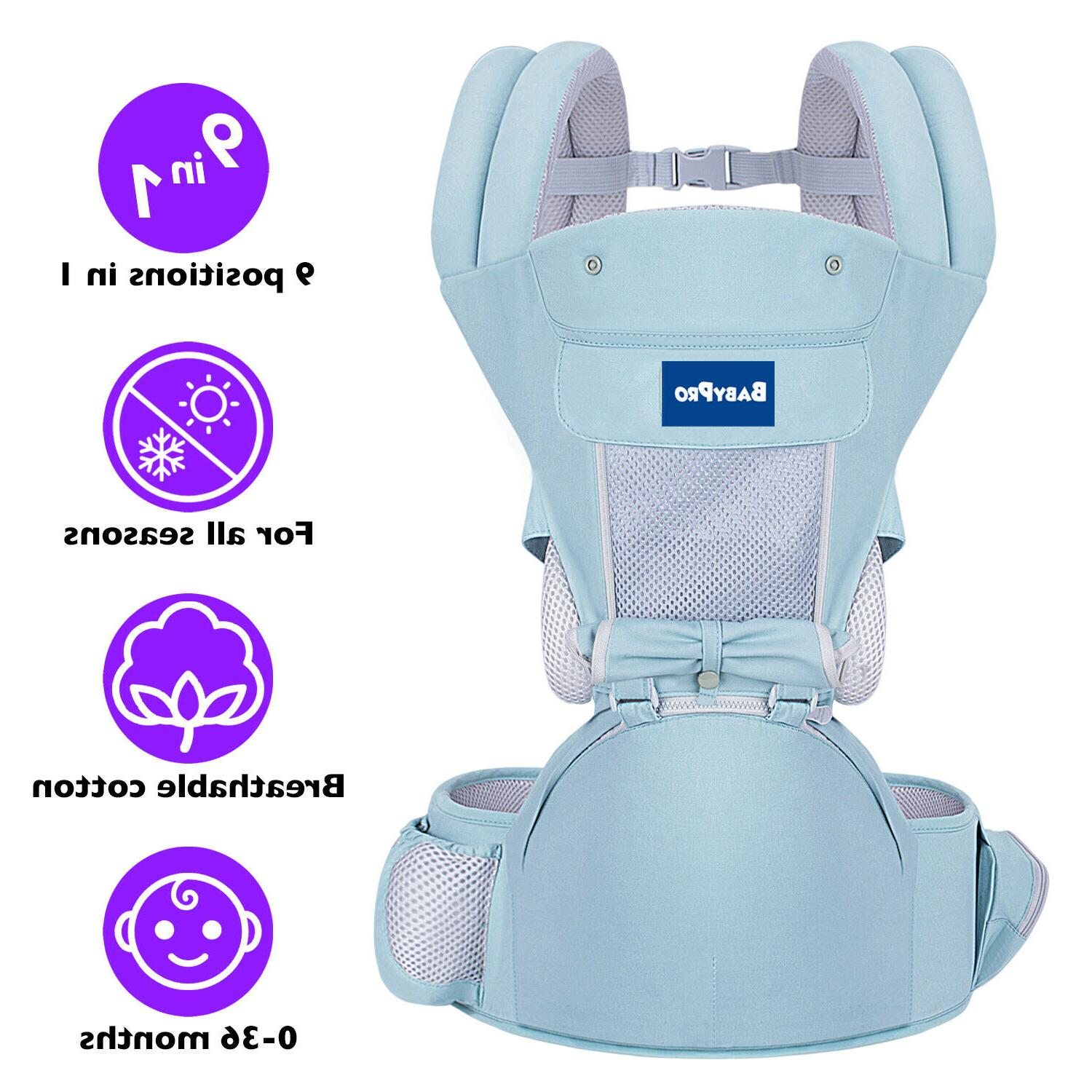 BabyPro Carrier with Hip Seat, Positions and