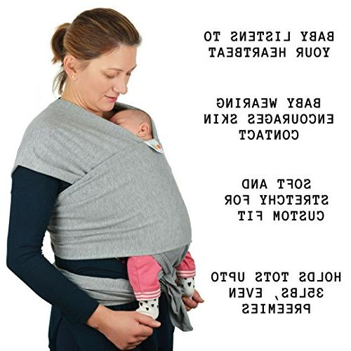Baby Wrap Slings - Natural Positions Soft Lightweight for Newborn Infants Birth