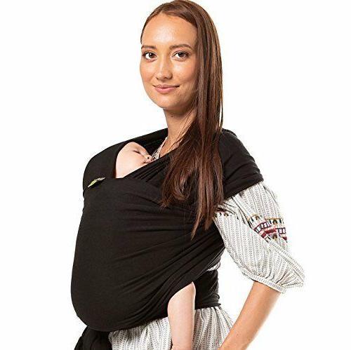 baby wrap newborn infant carrier black
