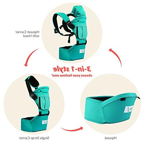 BabySteps Baby with Seat All Seasons, & Safe Positions Infant Waistband Perfect for Alone and