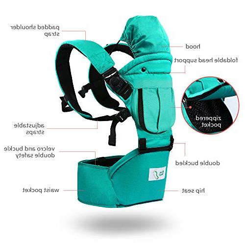 BabySteps with Hip Seat & Safe for Infant & Adjustable Waistband 48.8'' Perfect and Hiking