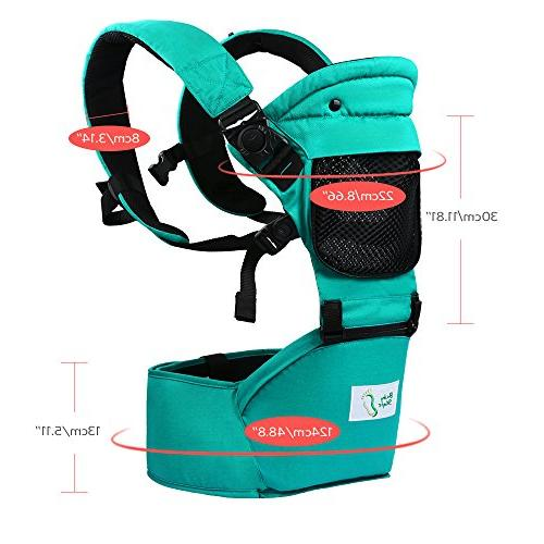 BabySteps Ergonomic Baby with Hip for All & Positions Infant Toddlers, Adjustable Waistband , Perfect and Hiking