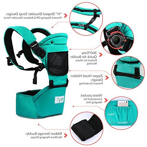BabySteps with Hip All Seasons, Comfortable & Safe Positions for Infant Waistband Maximum 48.8'' , Perfect for Alone and