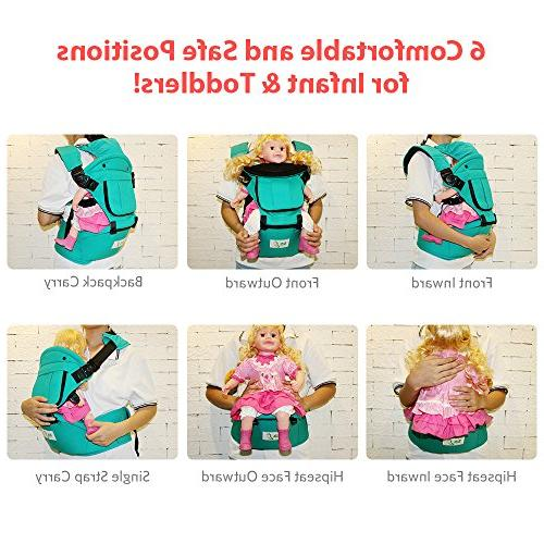 BabySteps with Seat for All Seasons, & Positions Infant Waistband Perfect Alone and Hiking