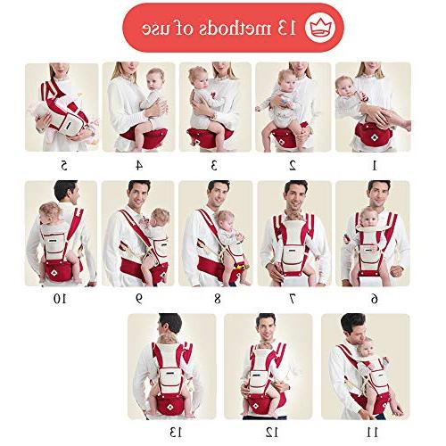 Baby Carrier Soft All Hip Seat Positions Ergonomic Child and Newborn Seats