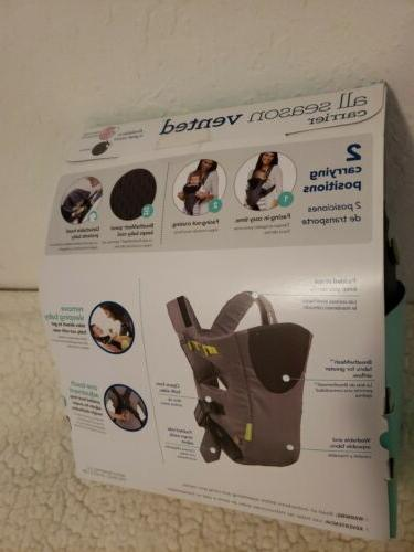 Infantino Cuddle Up Hoodie Carrier Grey VENTED Cooling