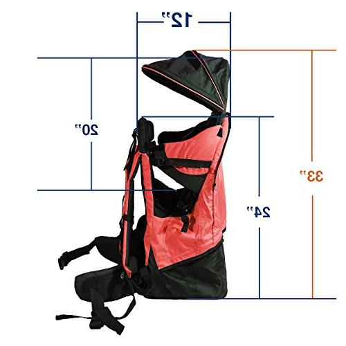 Deluxe Back Pack Carrier Stand Kid Shade