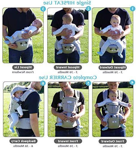 Bonne Vie Ergonomic Carrier with for Toddler - Organic Sling Seasons Perfect Nursing, - XL