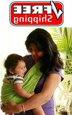 GREEN Infant Newborn Baby Carrier Sling Wrap Cradle Pouch FR