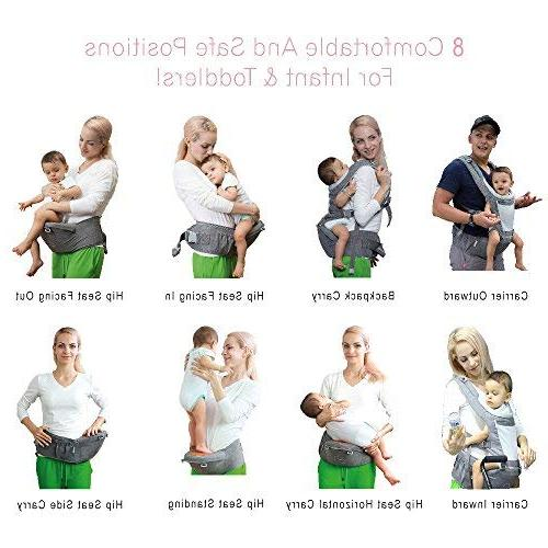 DaDa Hip Carrier, 360 Baby Carrier seat Infants Toddler perfect hiking and