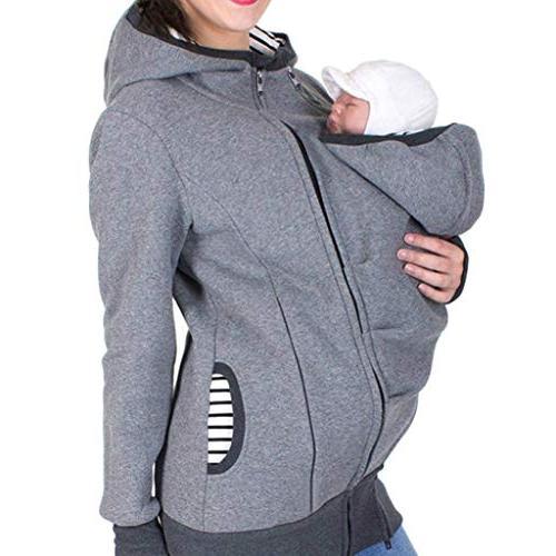 women breastfeeding kangaroo hoodie jacket