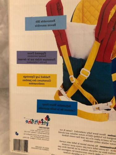 infantino traveler soft baby carrier 0-9 21lbs Vintage New