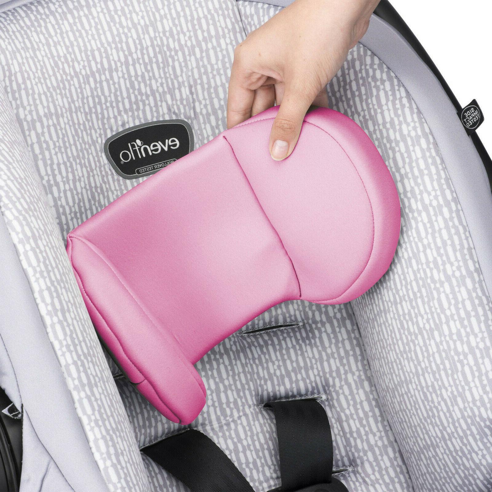 Evenflo LiteMax Infant Car Seat, Azalea