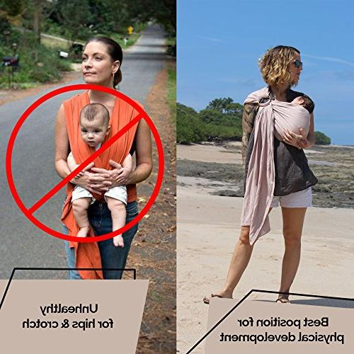Luxury Baby Carrier – and linen lightweight - newborns, infants and - gift new too nursing