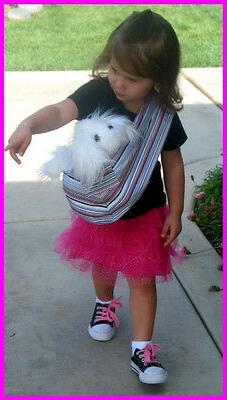 NEW CHILD doll sling baby CARRIER pet dog pretend play Toy M