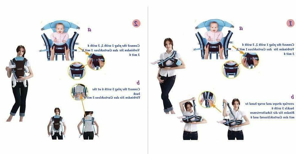 NEW YB Flip 4-in-1 Convertible Baby-Carrier-wrap-Sling-Kangaroo-Bag Pink BLACK