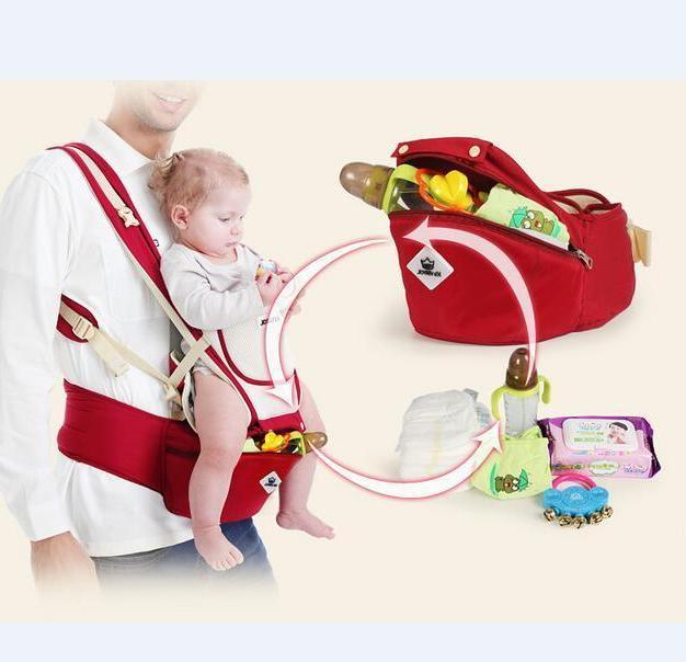Newborn Baby Carrier Ergonomic Wrap Backpack w/Hip