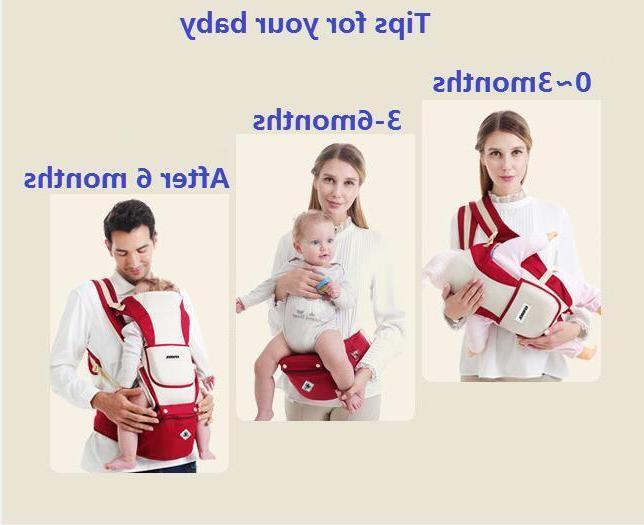 Newborn Carrier Breathable Ergonomic Support Wrap Sling Backpack w/Hip Seat