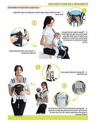 Newborn Infant Comfort Baby Carrier Backpack Straps