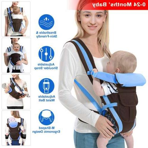 Newborn Baby Carrier Sling Breathable Infant Backpack Wrap S