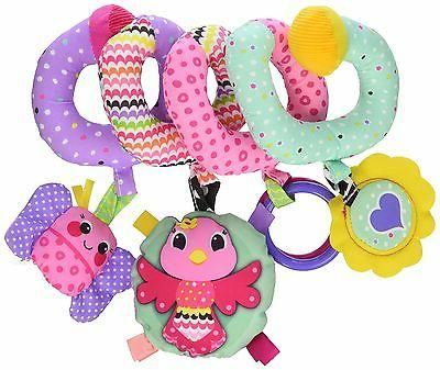 pink spiral activity toy play