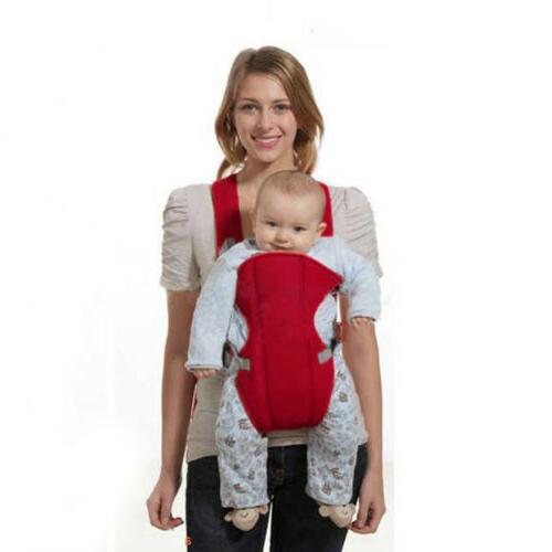 red front facing brons baby carrier backpack