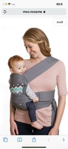 Infantino Sash Wrap and Tie Baby Carrier, Gray w/Chevron New