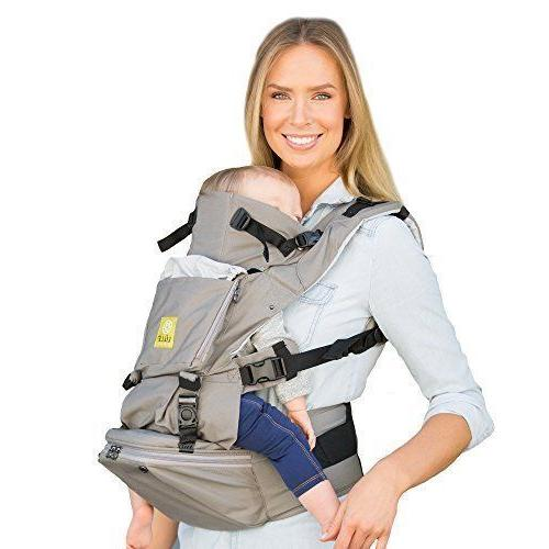 seatme hip seat baby carrier grey cotton