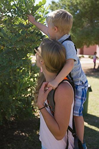 Piggyback Toddler Backpack for Hands-Free Hiking Camping, Fitness, Adventures