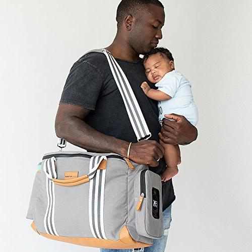 Baby Travel Diaper with Changing Pad, Dry Bag, Cooler Pocket, Wipes - Uses -