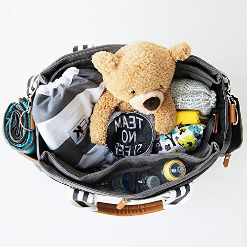 Baby K'tan - Travel Diaper Bag with Changing Wet Bag, Cooler Pocket, Wipes - Multiple Uses -