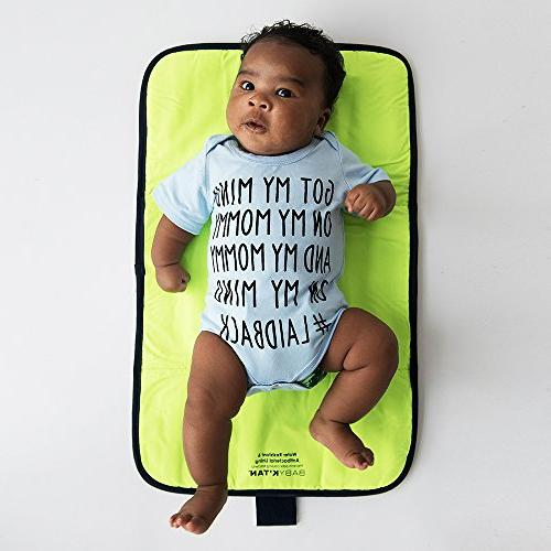 Baby - Travel Bag Changing Pad, Wet Bag, Cooler Built-in Wipes Uses - Grey