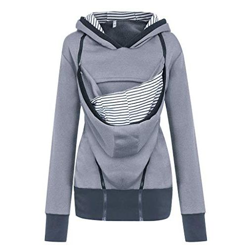 Women's Breastfeeding Hoodie Jacket for Carrier Top Care Shirts