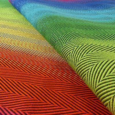 DIDYMOS Woven Wrap Carrier Lisca/Herringbone Rainbow Organic Cotton, 4