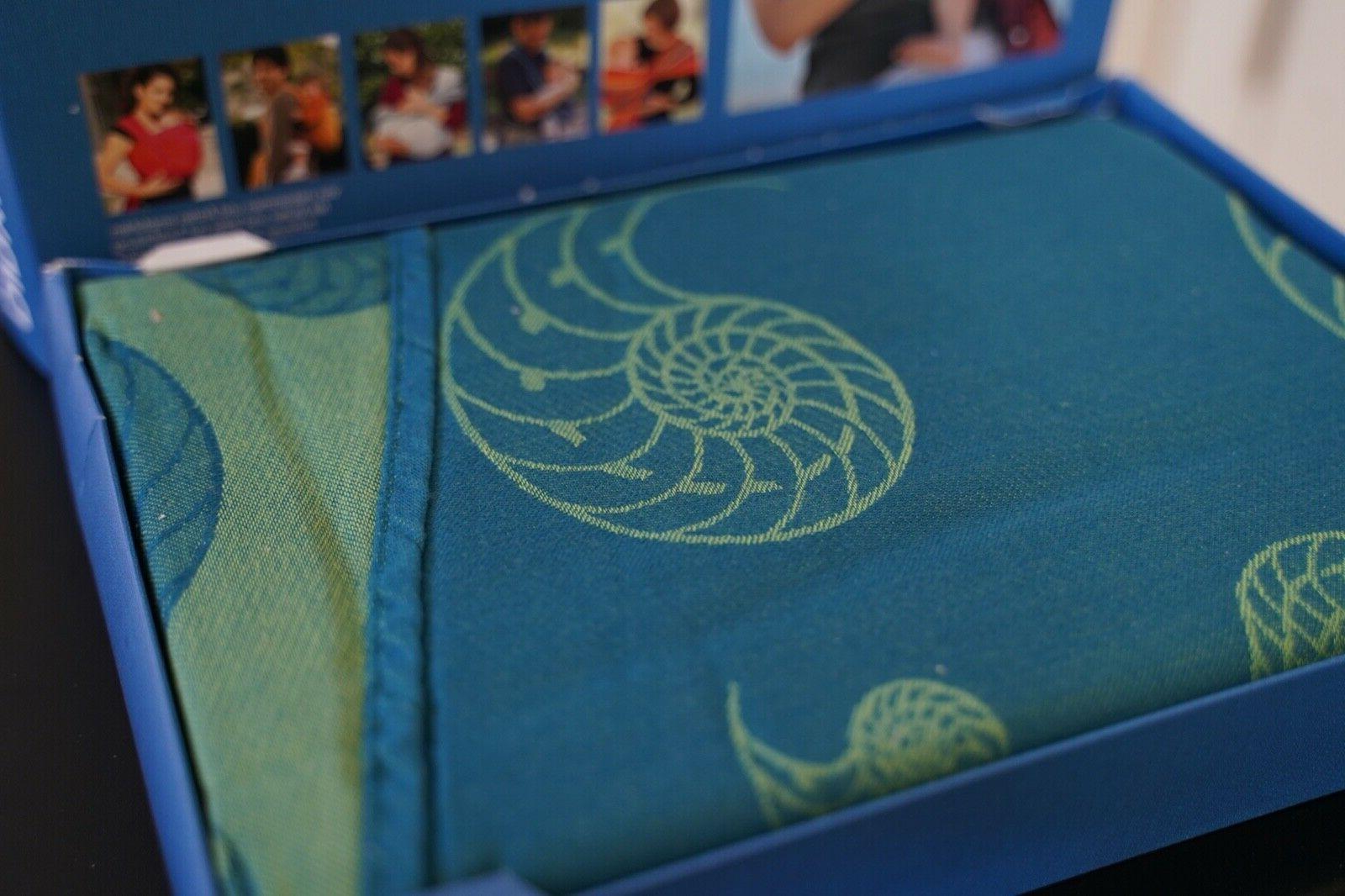 woven wrap baby carrier nautilus acqua 100