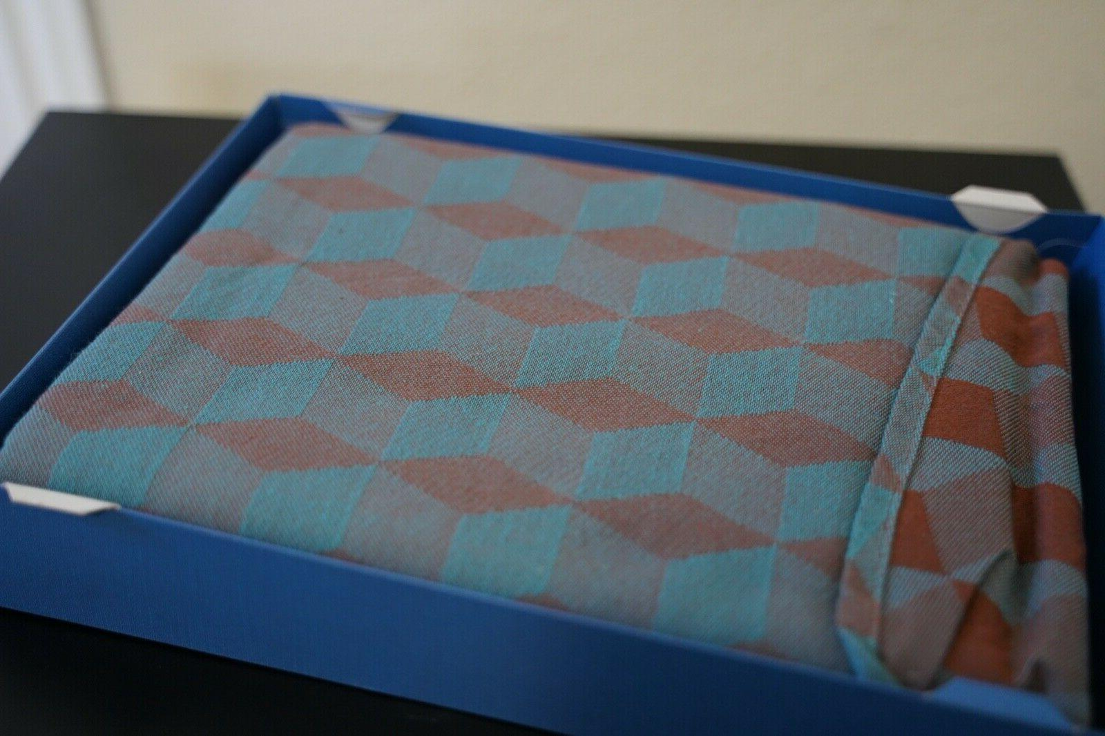 woven wrap baby carrier tina zimt turkis