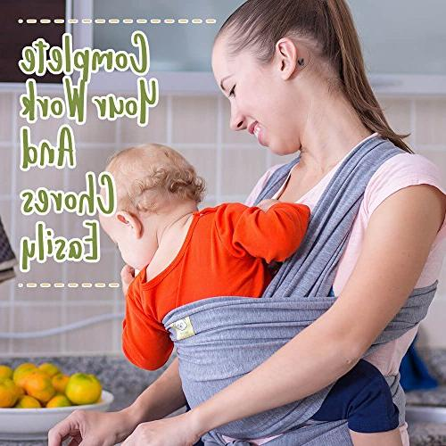 Baby Wrap Carrier All-in-1 Stretchy Baby - Ergonomic Baby - Carrier Babys - Free Carrier - Gift One Size Fits All