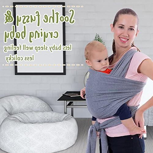 Baby Carrier Stretchy Ergo - Sling - Babys Hands Free Babies Wraps Gift - Fits All