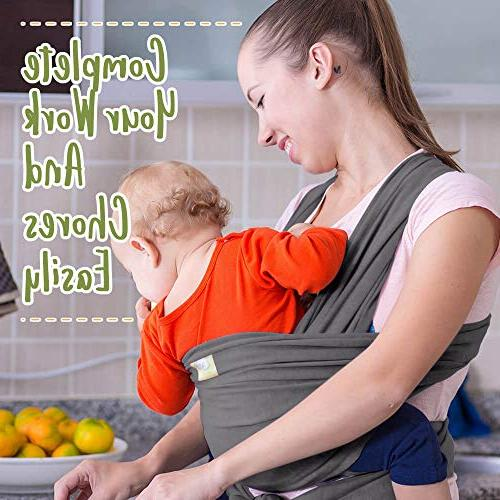 Baby Stretchy Ergo Baby - Baby - Babys Wrap Free Babies Carrier Wraps - Best Gift - Fits All